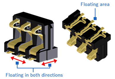 Floating Battery Connector